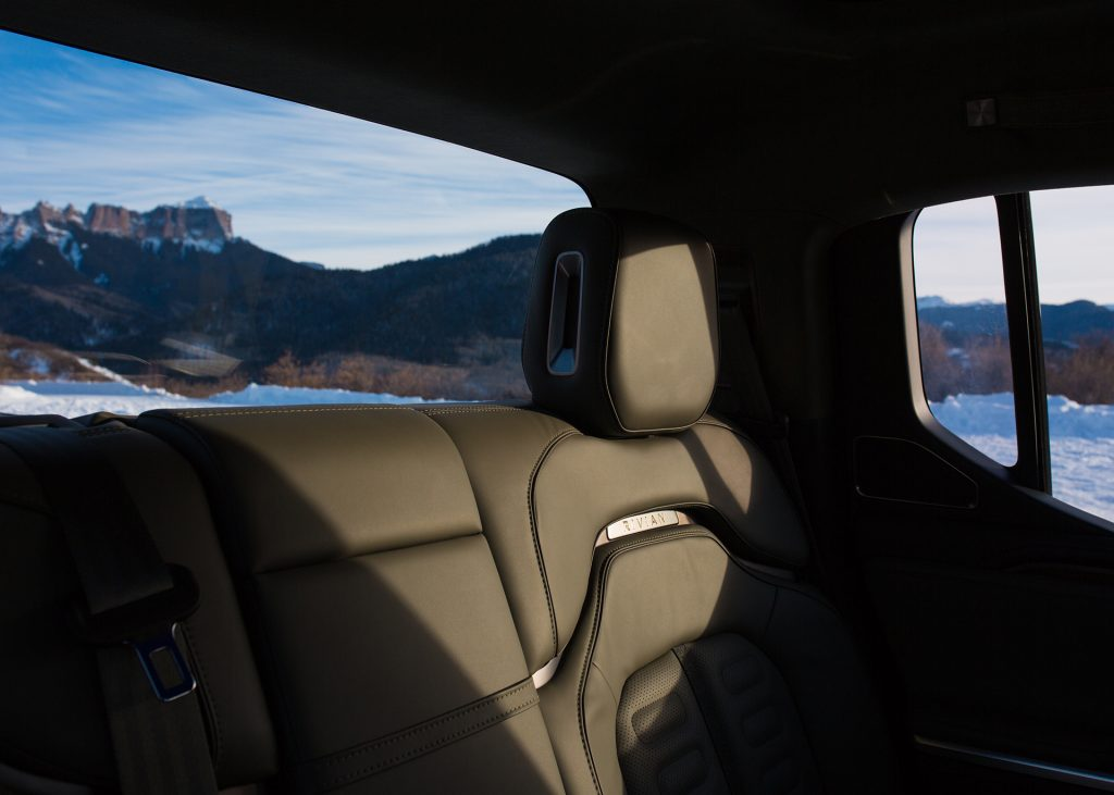 rivian r1t backseat