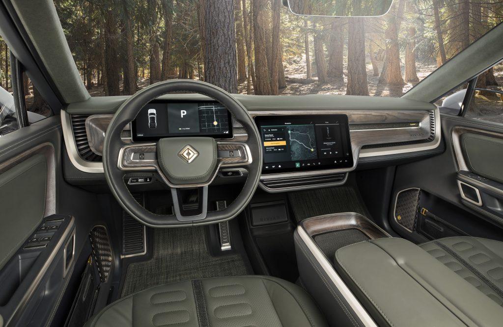 rivian r1t interior drivers seat