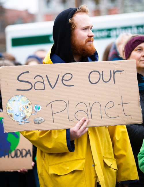 """""""Save Our Planet"""" Climate Change Activist"""
