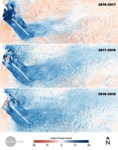 jakobshavn greenland ice sheet 2016-2019