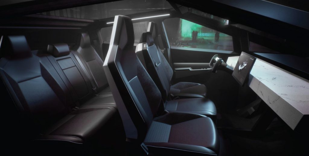 tesla cybertruck interior design