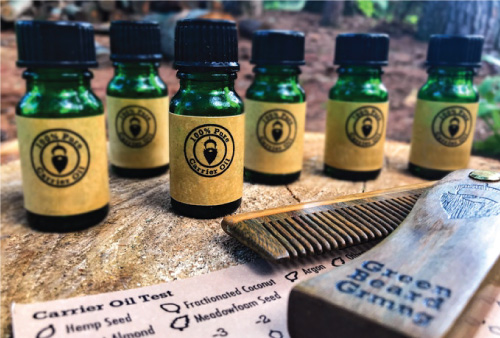 beard oils and comb