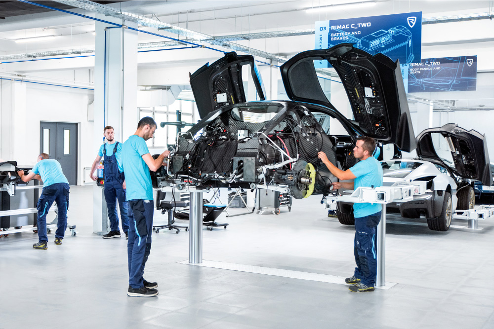 rimac c two assembly line