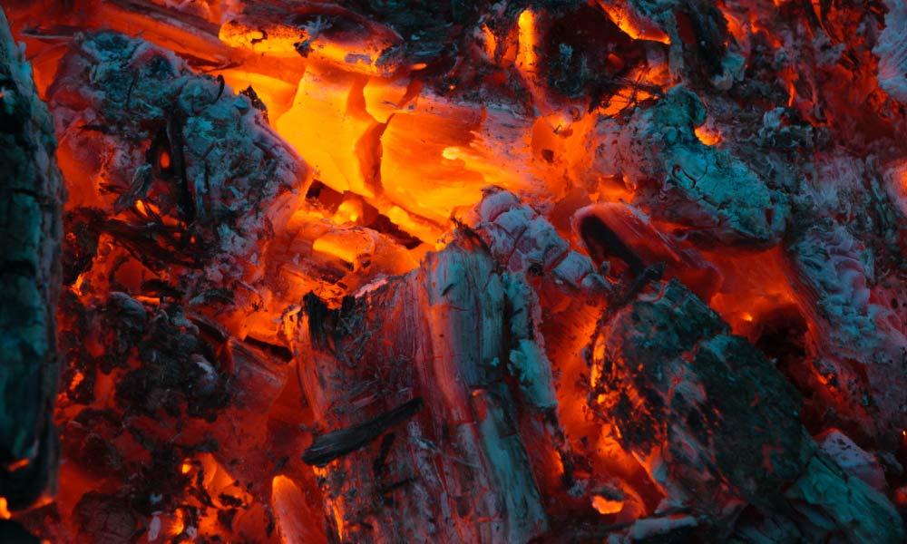 biochar feed stock burning