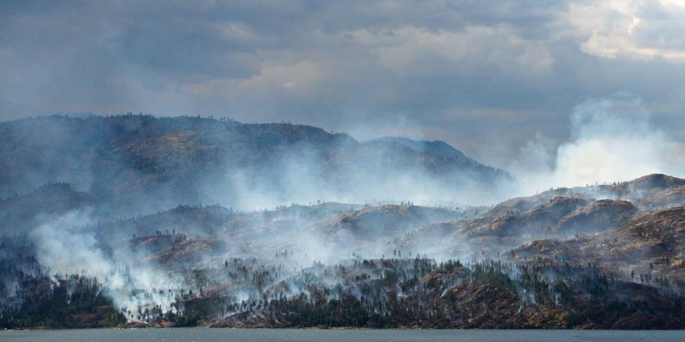forest fires Okanagan Mountain Provincial Park, BC Canada